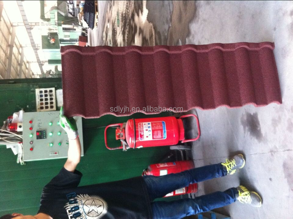 sand coated metal roofing tiles BACK GREEN /Classical tile 1340*420mm