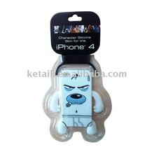 Silicone case for Iphone 4G with full color Imprint