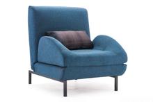 Conic Sofa Sleeper Cowboy Blue Body & Shadow Grid Cushion