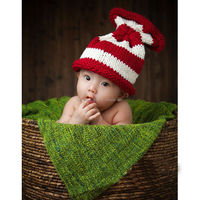 Christmas Crochet Hat Newborn baby hat Baby Photography Hat