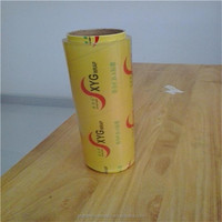 pvc cling film food wrap transparent plastic packaging film clear wrapping plastic paper