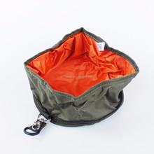 Folding Travel Dog Pet Food Water Bowl