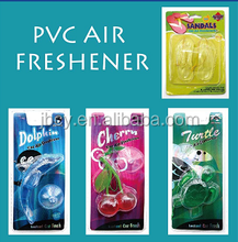 2016 good plastic GEL hanging car air freshener/freshner