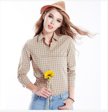 Import And Export Agent yellow and black plaid shirt