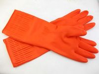 long sleeve Household waterproof rubber washing cleaning gloves