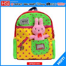 wholesale factory price fabric printed fabric children school bag