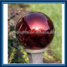 espejo de color rojo bola de acero inoxidable de mirar las globo para el jardín
