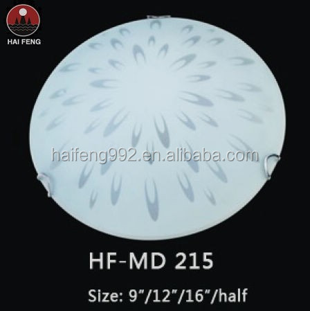 White Milky Glass Ceiling Lamp E27 Round Glass Ceiling