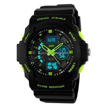 Mens Digital 50M Waterproof LED Alarm Multifunction Boy Sport Wrist Watch