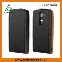 Black Flip leather case for LG G2 Mini, leather case for LG G2 MINI case