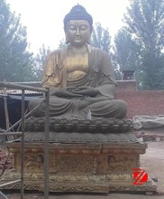 Metal large sitting buddha sculpture made from factory