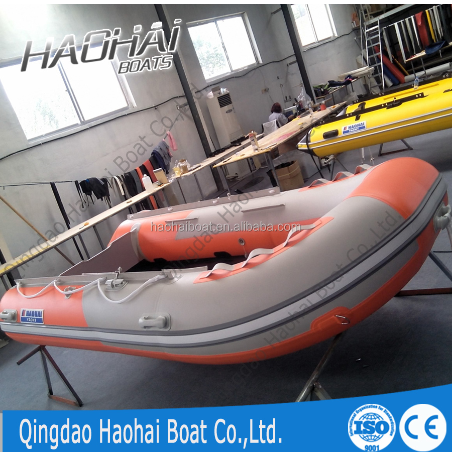 Ce aluminum floor inflatable fishing boat for sale for Inflatable fishing boats for sale