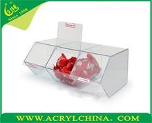 2015 acrílico rotativa Pick & Mix dispensador exposição da loja recipiente de alimento acrílico caixa distribuidora de doces