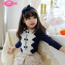 ShiJ Lovely Baby Clothing Made in China Princess Lace Collar with Cute Bow Button