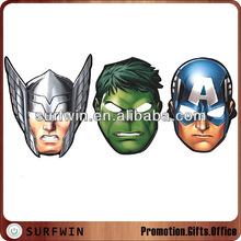 Cardboard facial masks for children