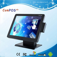 15 inch All in one touch restaurant pos system /pos terminal with free windows