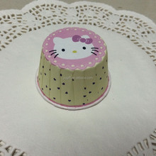 Stock YGT own design hello kitt Wholesale paper muffin cups/ paper baking cups/greaseproof paper cupcake liners