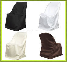 Hot selling high quality cheap price folding chair cover for wedding