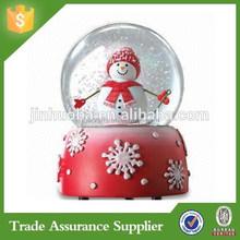 Polyresin Snowman Plastic Snow Globe