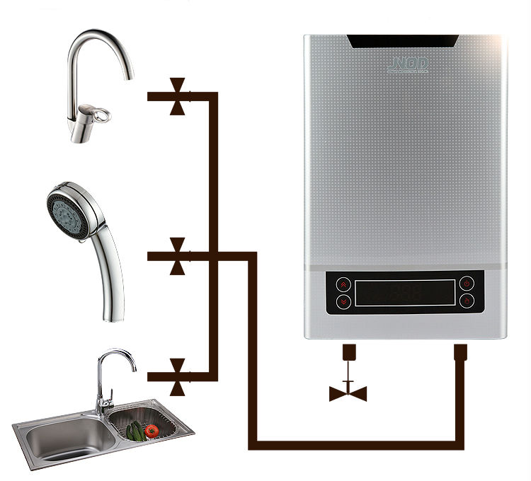 Electric tankless water heater - Scaldabagno elettrico istantaneo ...