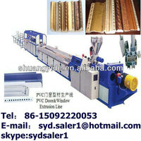 Wood Plastic foaming Photo Frame Production Line / wood frame making machine