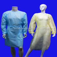 Polypropylene non sterile yellow gown disposable medical gown