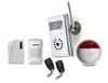 GSM home intruder alarm system with wireless siren and wireless camera