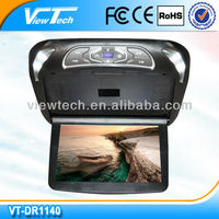2015 OEM support 11.4-Inch roof mount car dvd player with 32 Bits Games