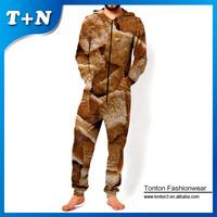 wholesale custom sublimation gym chiffon long jumpsuit tracksuit