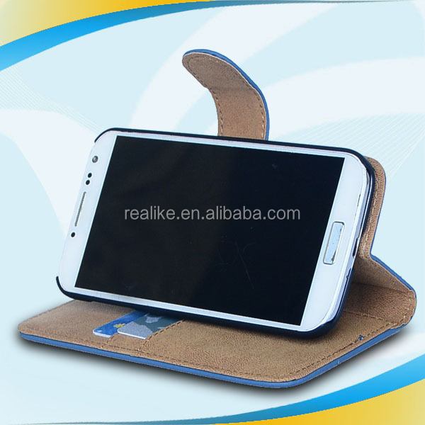 auto wake sleep function leather case for samsung galaxy s4