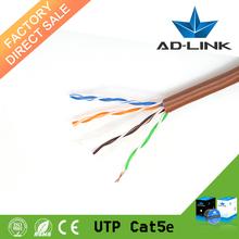 pure copper pass fluke 23 24 awg colorful PVC jacket utp cable cat5e