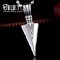 BEIER stainless steel jewelry arrowhead pendant men personality wholesale jewelry BR-P006