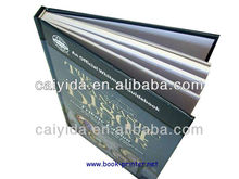 hardcover book with gold stamping printing