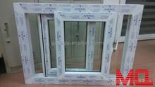 UPVC Exterior China manufacturer European style sliding type pvc window