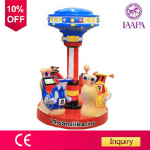 Factory coin operated kiddie rides carousel machine