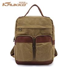 Novel Leather Shoulder Bag Small Backpack Canvas Shoulder Bag For Girls Cute Canvas Backpack Canvas And Leather Backpack