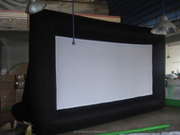 inflatable screen/ indoor rear projection inflatable movie screen /inflatable projection screen
