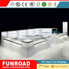 Paquete de muebles para tiendas de joyeria nuevo diseño escaparates para tiendas de joyeria