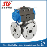 manufature stainless steel /cf8m 3 way ball valve high temperate