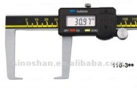 """116-325 0-200mm/0-8"""" New Type LCD Reading Mechanical Slide Metric/Inch system Outside Groove Measuring Tools"""