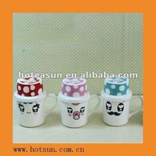 Happy Family Magnesium Ceramic Drink Mug(with high cover)6H7589