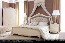2014 Classic antique hotel bedroom/Sapele solid wood bed room set/hotel furniture
