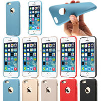 Luxury Ultra Thin Soft PC+PU Matte Back Case Cover Skin for Apple iPhone 6 4.7