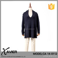 CA-14-0112 2014 new fashion women knitting pure cashmere v neck pullover,cashmere sweater