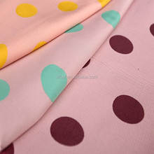 2015 new arrival 100% Polka dots polyester jacquard woven garment fabric