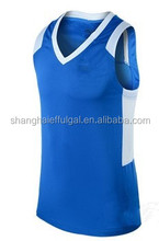 2015 New cotton functional fabric made basketball jersey set