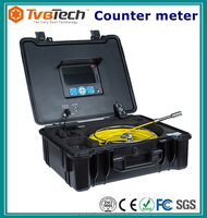 30M Cable Sewer Drain Pipe Color Inspection Camera System With DVR 512Hz Transmitter And Meter Counter. Waterproof ABS Case