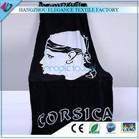 promotional or advertising custom logo reactive printed beach towel