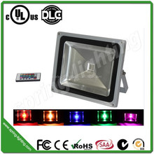 factory OEM/ODM ce,rohs,saa, dlc and ul listed ip65 50w rgb color changing outdoor led flood light