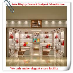 Customizable Leather Handbag/Shoe Shop Display Rack With Beautiful Spot Light